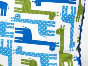 Poduszka GIRAFFE niebieskie Minky 30 x 40 cm 2