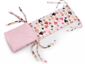 Ochraniacz do łóżeczka 182 x 25 cm Minky różowy JUST DANCE 1