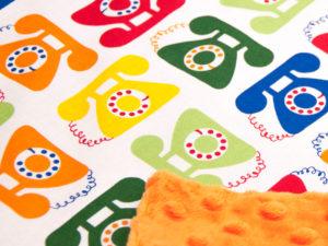 Kocyk pomarańczowe Minky PHONE 80 x 100 cm 2
