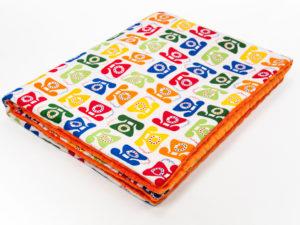 Kocyk pomarańczowe Minky PHONE 80 x 100 cm 1