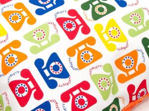 Poduszka PHONE pomarańczowe Minky 40 x 60 cm 2
