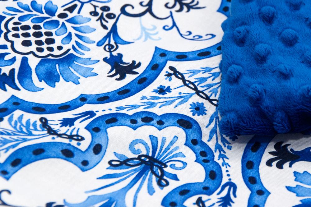 Koc Minky 140x200 cm FRANCE niebieski