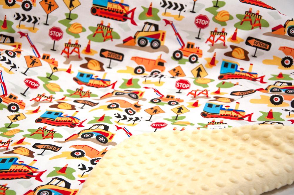 Kocyk dla dzieci KOPARKI 80 x 100 cm Minky 02