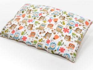 Kocyk i poduszka LULI OWL Minky cappuccino 80 x 100 cm i 40 x 60 cm 2