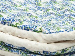Kocyk PROWANSJA white Minky 80 x 100 cm 2
