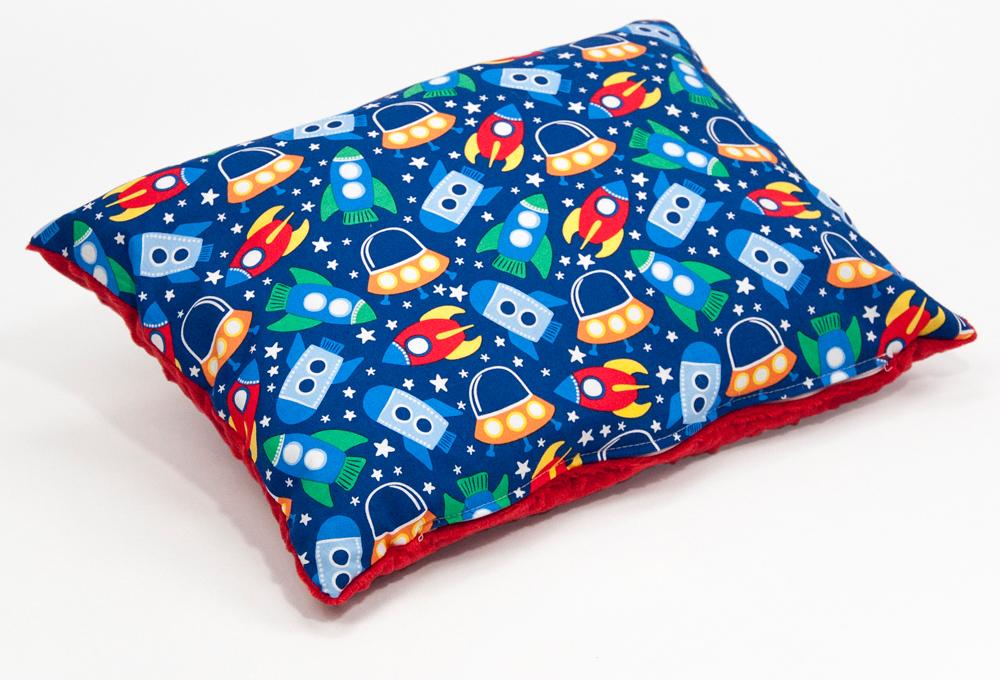 Poduszka space minky czerwony 30 x 40 cm mon miracle szyta for Space minky fabric