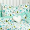 Poduszka jasnozielone Minky FRUU WAK 40 x 60 cm 3