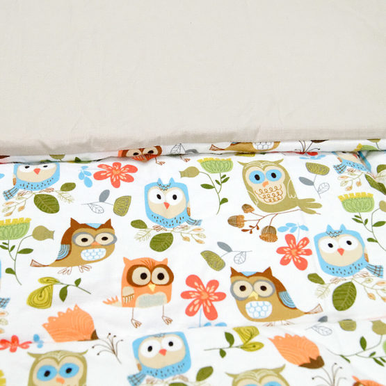 Kołderka LULI OWL 80x100 cm bawełna 2