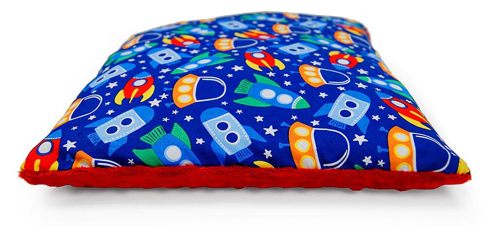 Poduszka p aska space minky czerwony 30x40 cm mon miracle for Space minky fabric