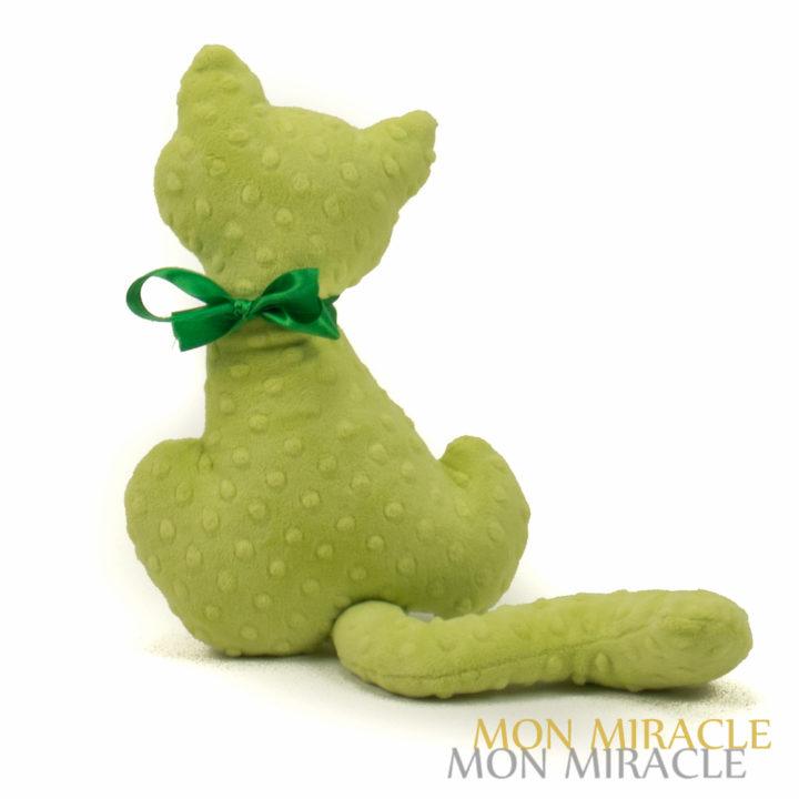 kotek MINKY zielony przytulanka