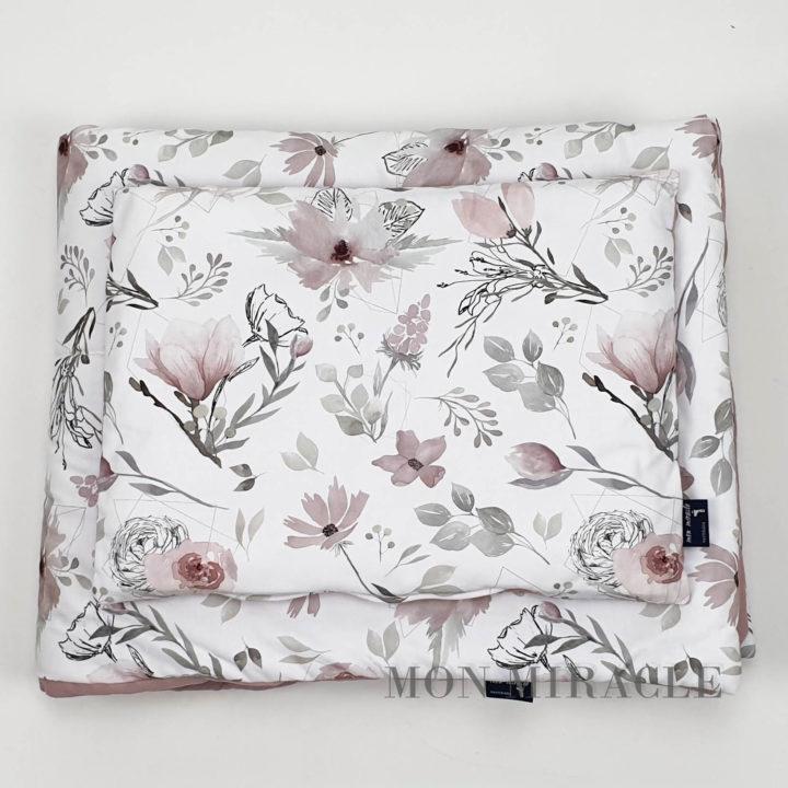 komplet bloom dark rose 80x100 30x40 cm