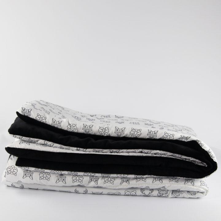 Koc z kolekcji ART Black Minky 130x200 cm
