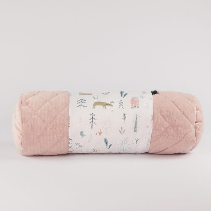 poduszka wałek HOME velvet pink